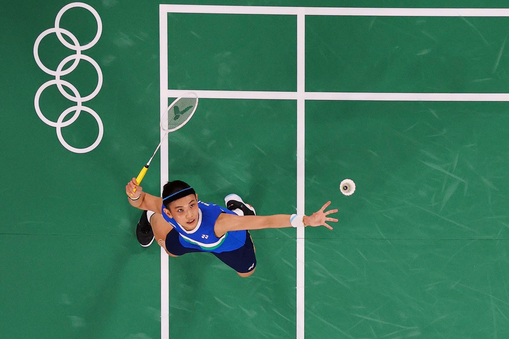 2020年8月1日東京奧運會女子羽毛球單打決賽,中華台北隊的戴資穎與中國隊的陳雨菲比賽。