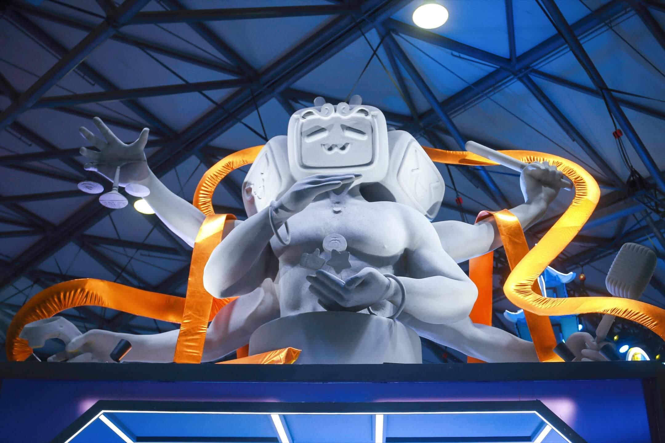 2021年7月30日,中國城市上海舉行第19屆中國國際數碼互動娛樂展覽會,網上影片平台Bilibili參展。 攝:Chen Yuyu/VCG via Getty Images