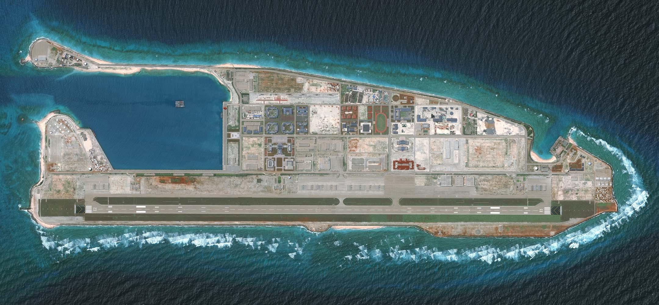 2018年8月15日,南沙群島永暑礁。