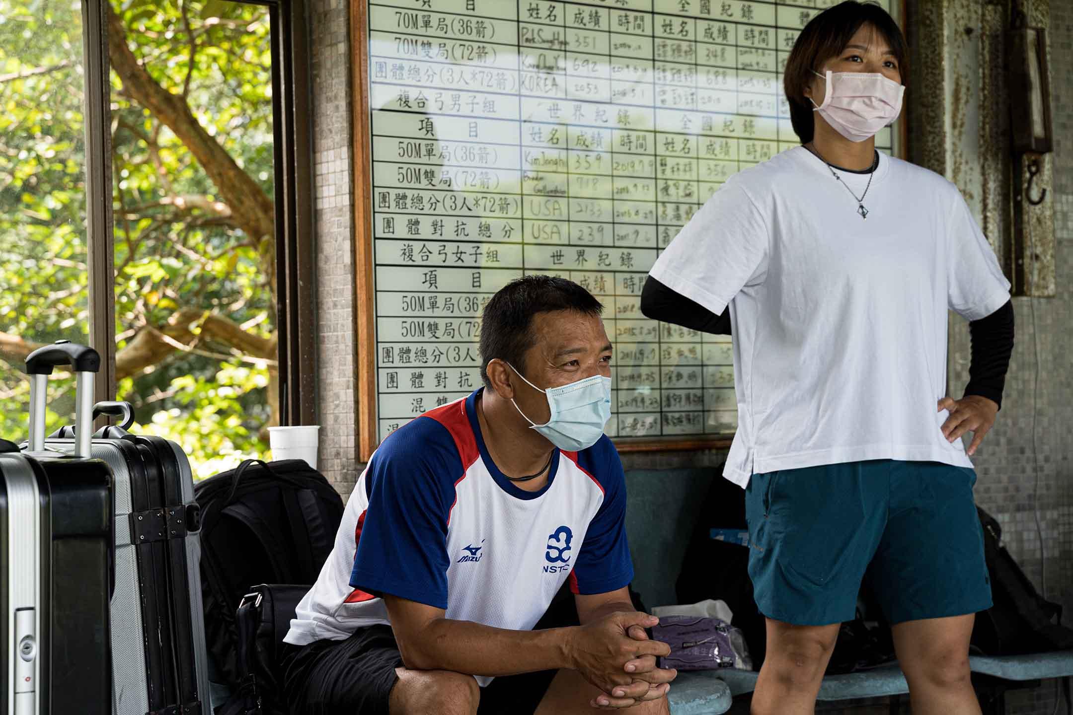 永豐高中射箭隊教練徐梓益。