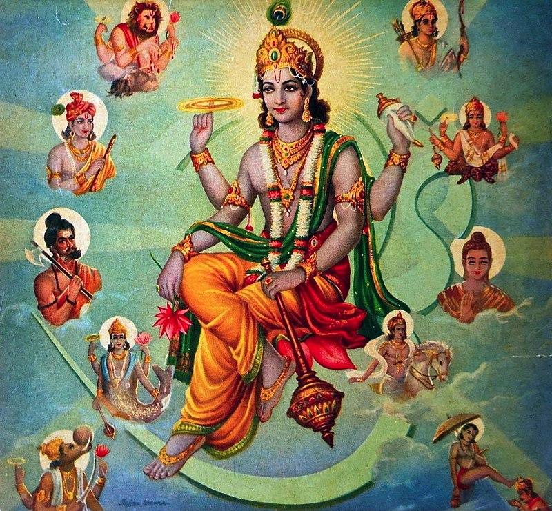 印度教神毗濕奴和其十個化身