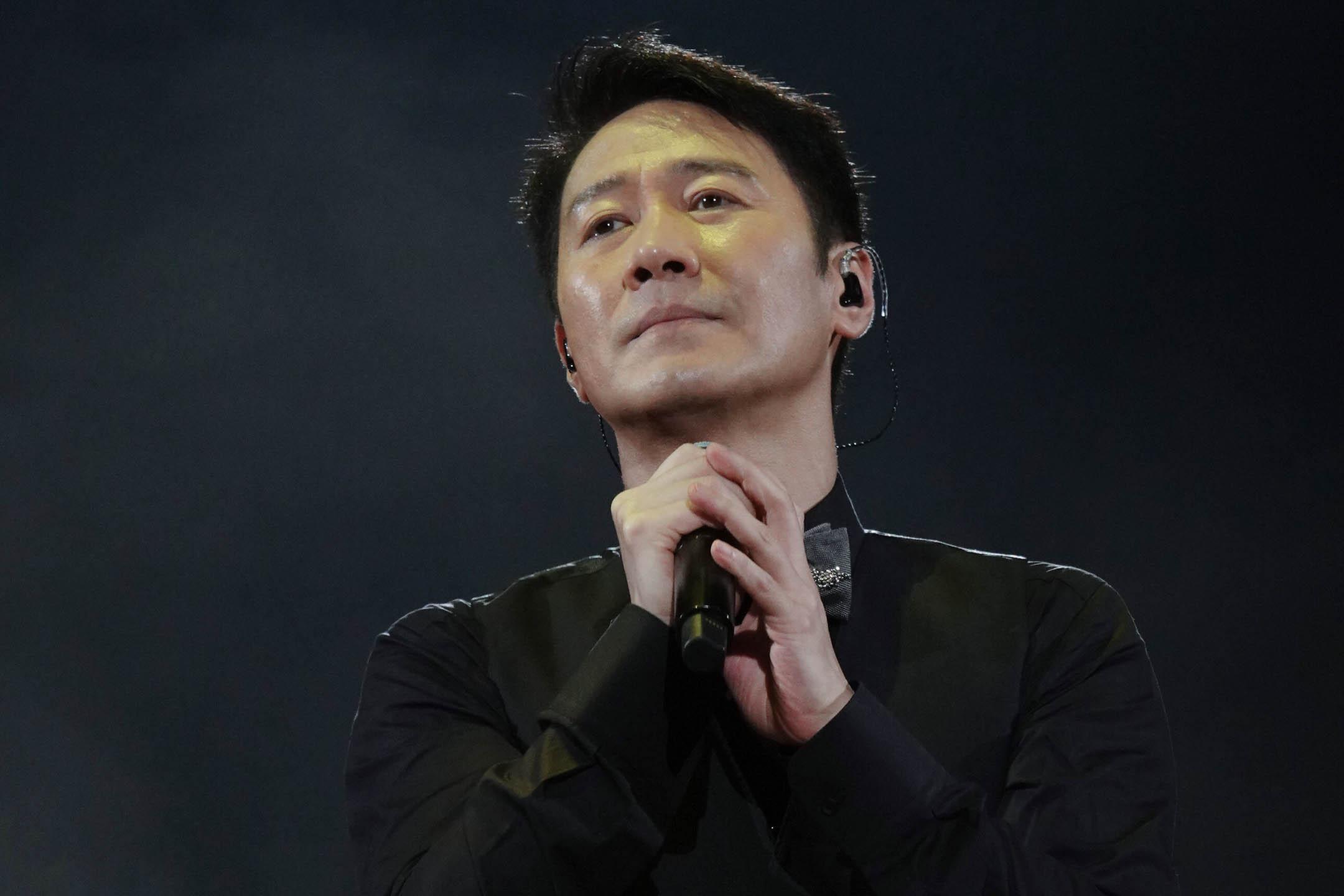 2021年7月10日香港,黎明在演唱會期間在舞台上表演。 圖:VCG/VCG via Getty Images