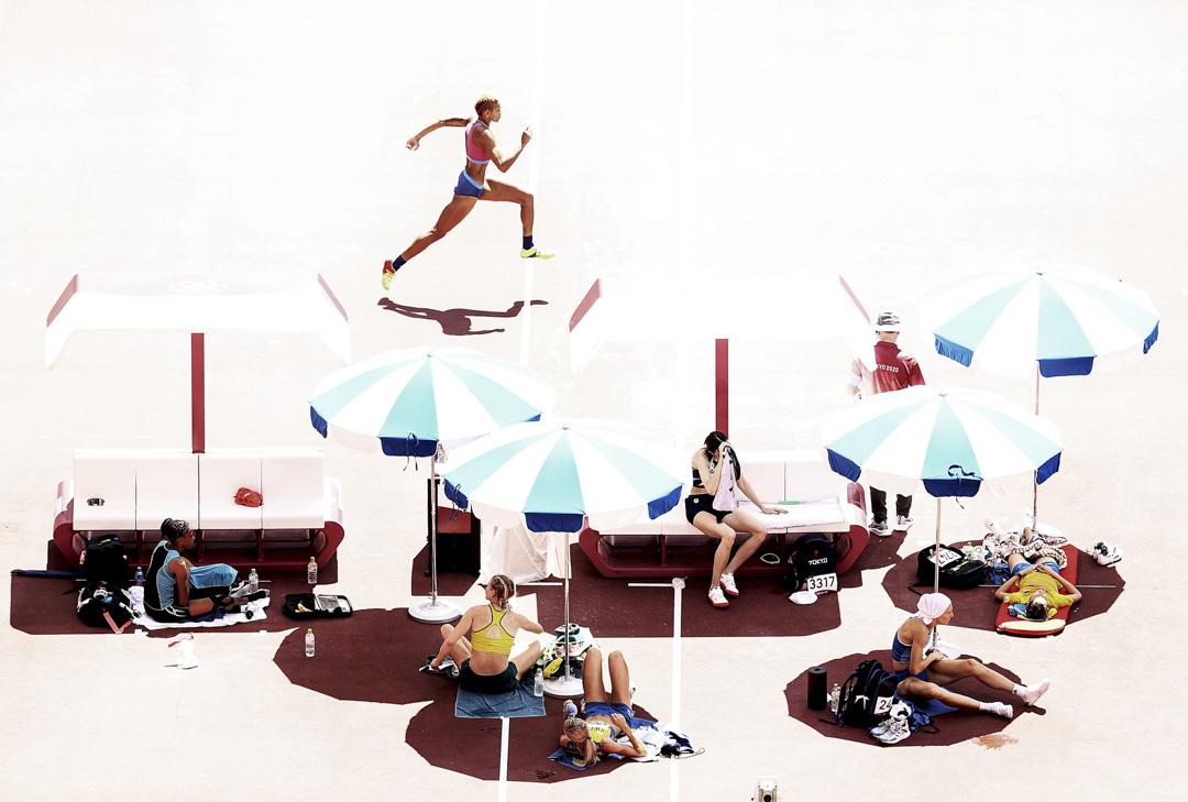 2021年8月5日,美國跳高選手Rachel McCoy在資格賽中競賽。