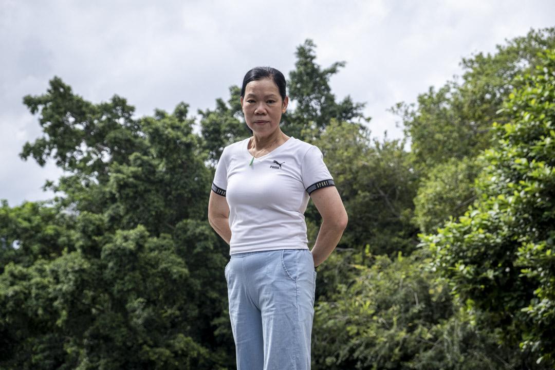 游泳教練李富嬋。