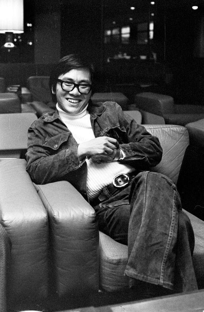 黃霑,拍攝於1973年。