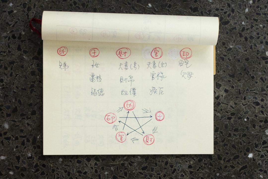 梁嘉麗學習紫微斗數十二宮位的筆記。