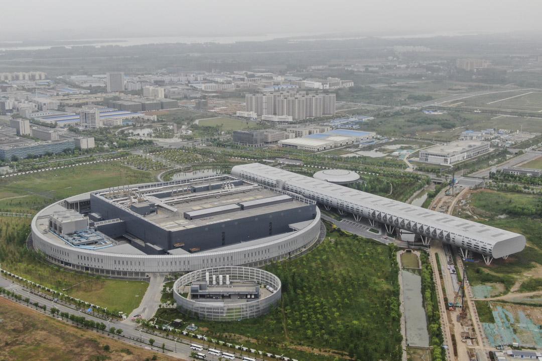2021年5月5日﹐南京市的台灣台積電工廠的鳥瞰圖。