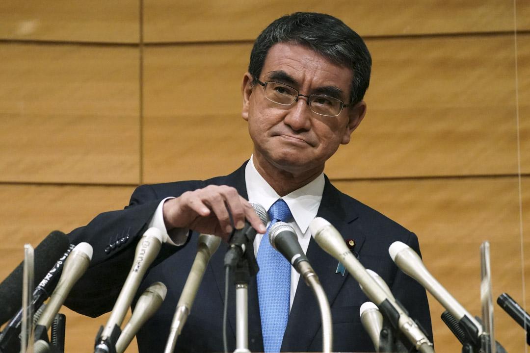 2021年9月10日,河野太郎出席自民黨的新聞發布會。