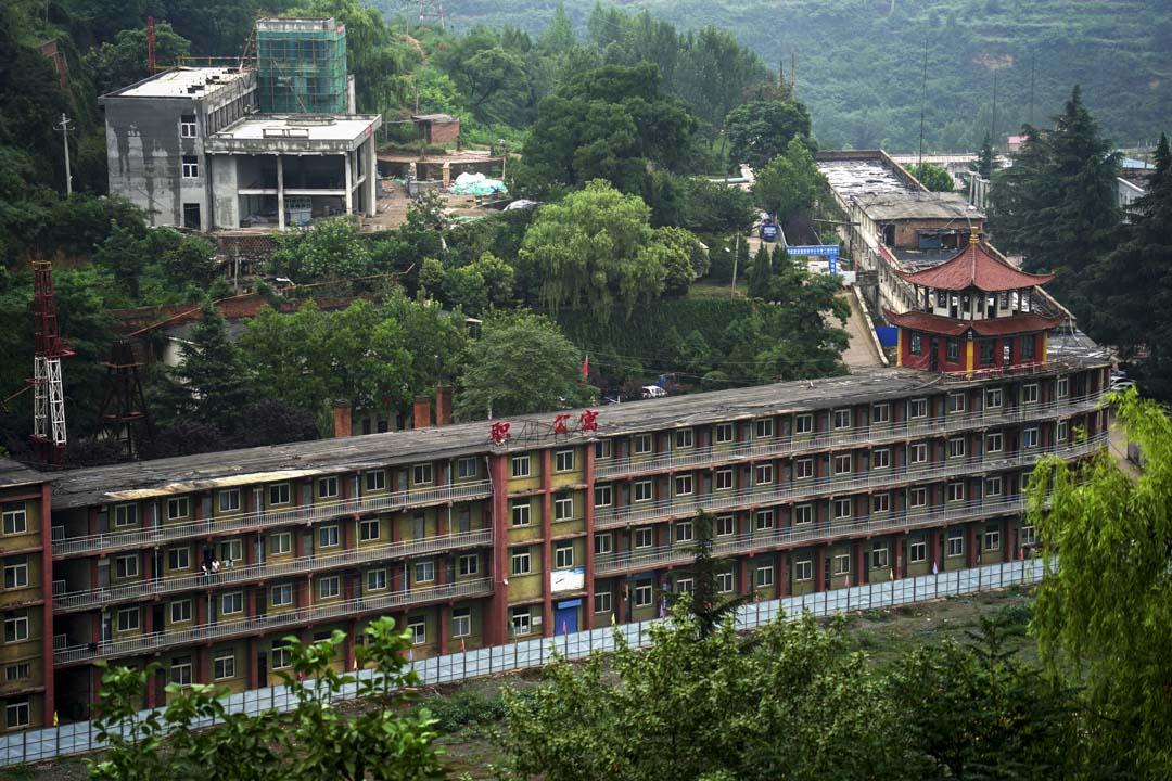 王石凹煤礦曾經的職工公寓。