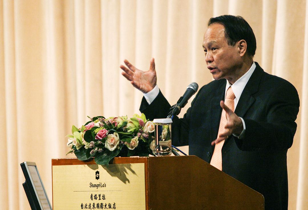 2008年1月30日,聯電執行長胡國強在台北舉行的投資者會議上發表講話。