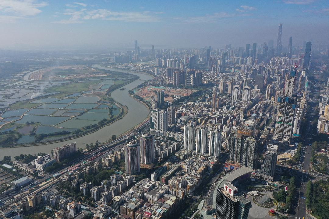 2020年12月29日,深圳市航拍。 攝:Getty Images