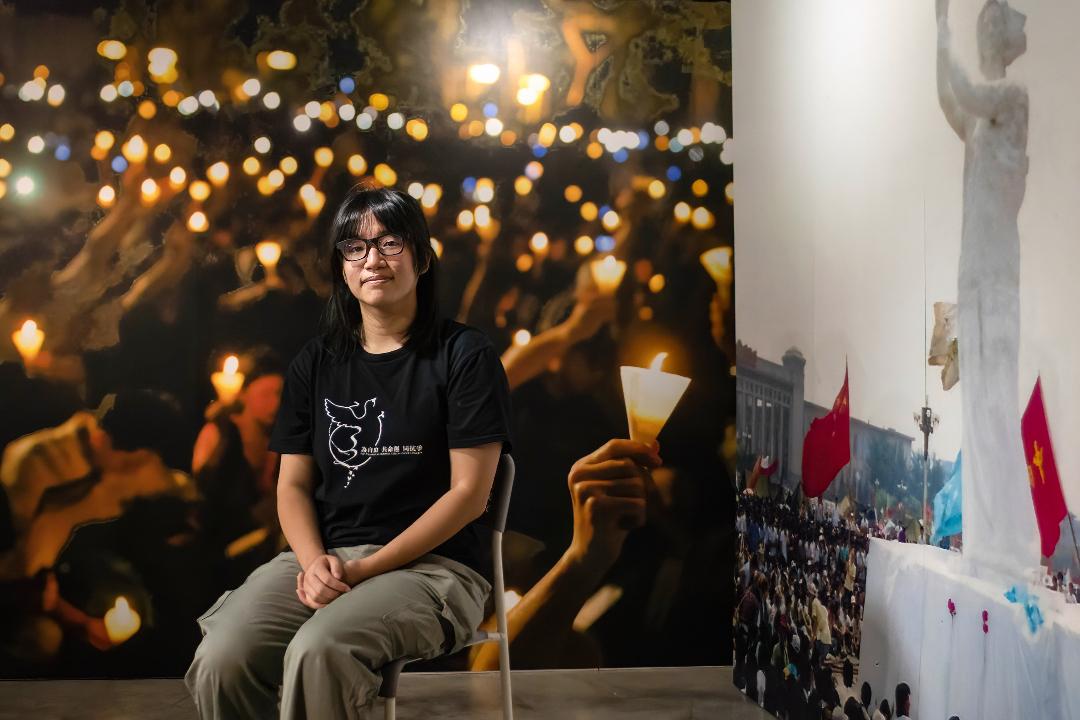 2021年9月5日,香港支聯會副主席鄒幸彤出席記者會。 攝:Alex Chan Tsz Yuk/Getty Images