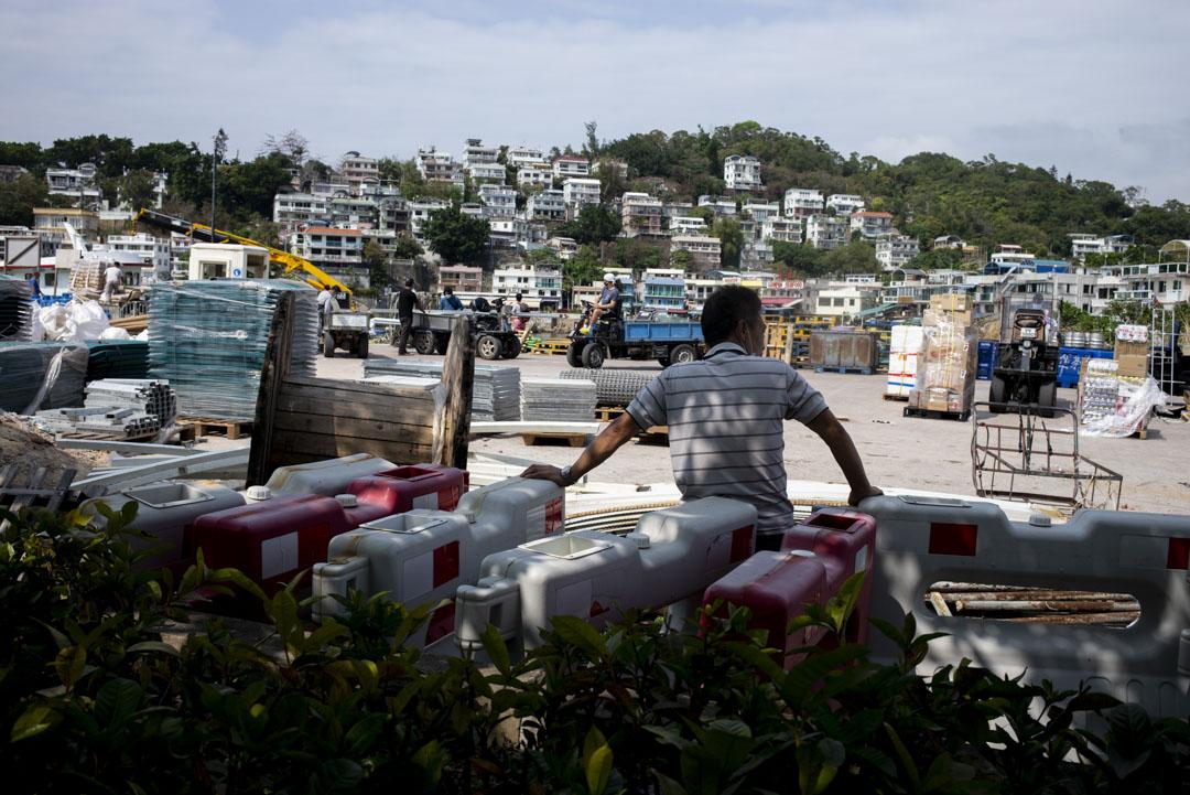 南丫島另一個專門供卸貨用的碼頭。