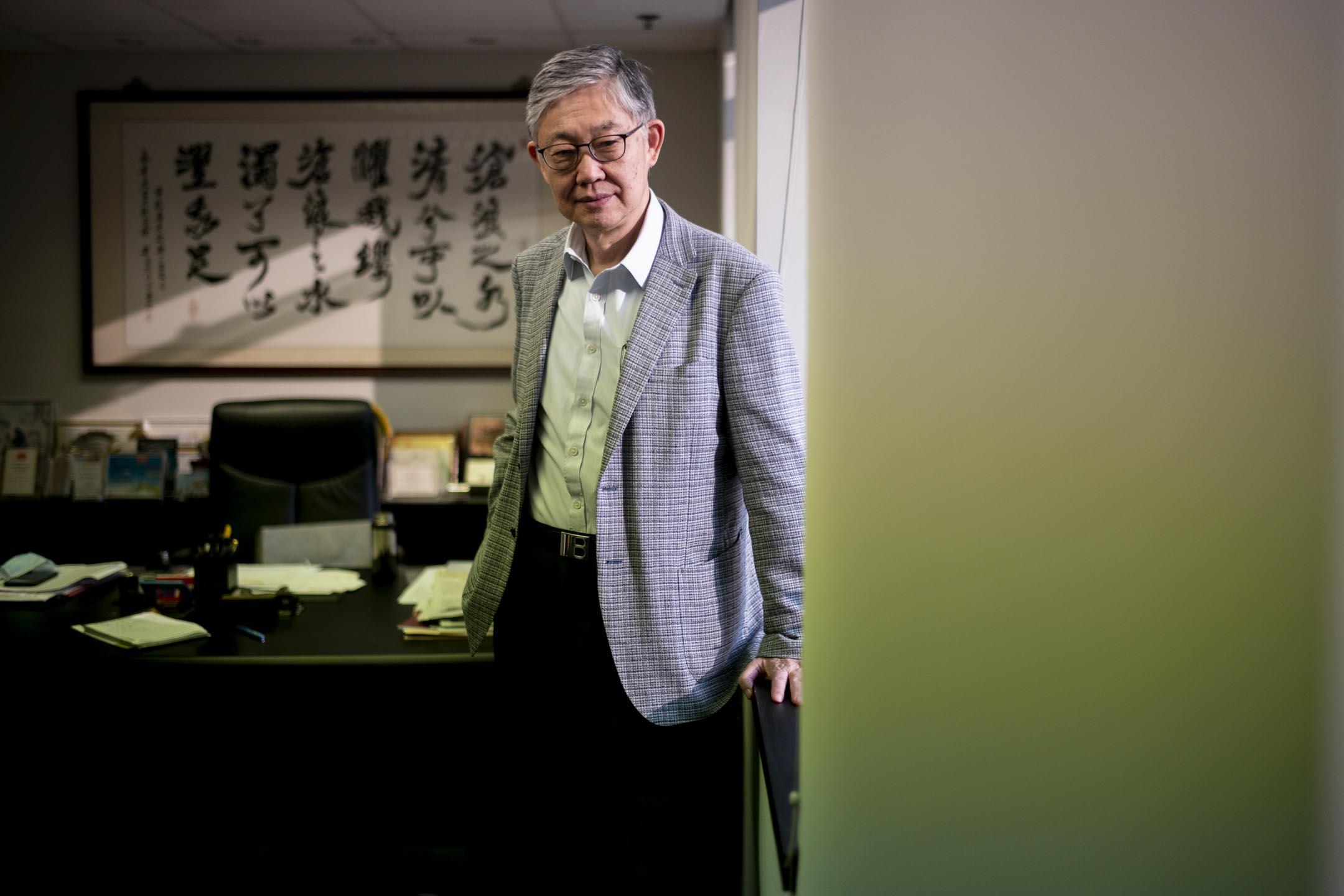 香港中原地產創辦人施永青。 攝:林振東/端傳媒