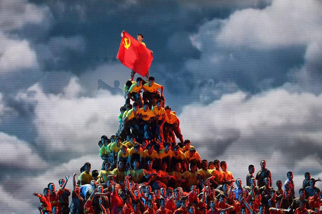 2011年6月28日,中國首都北京的人民大會堂上演表演慶祝中共成立90週年。