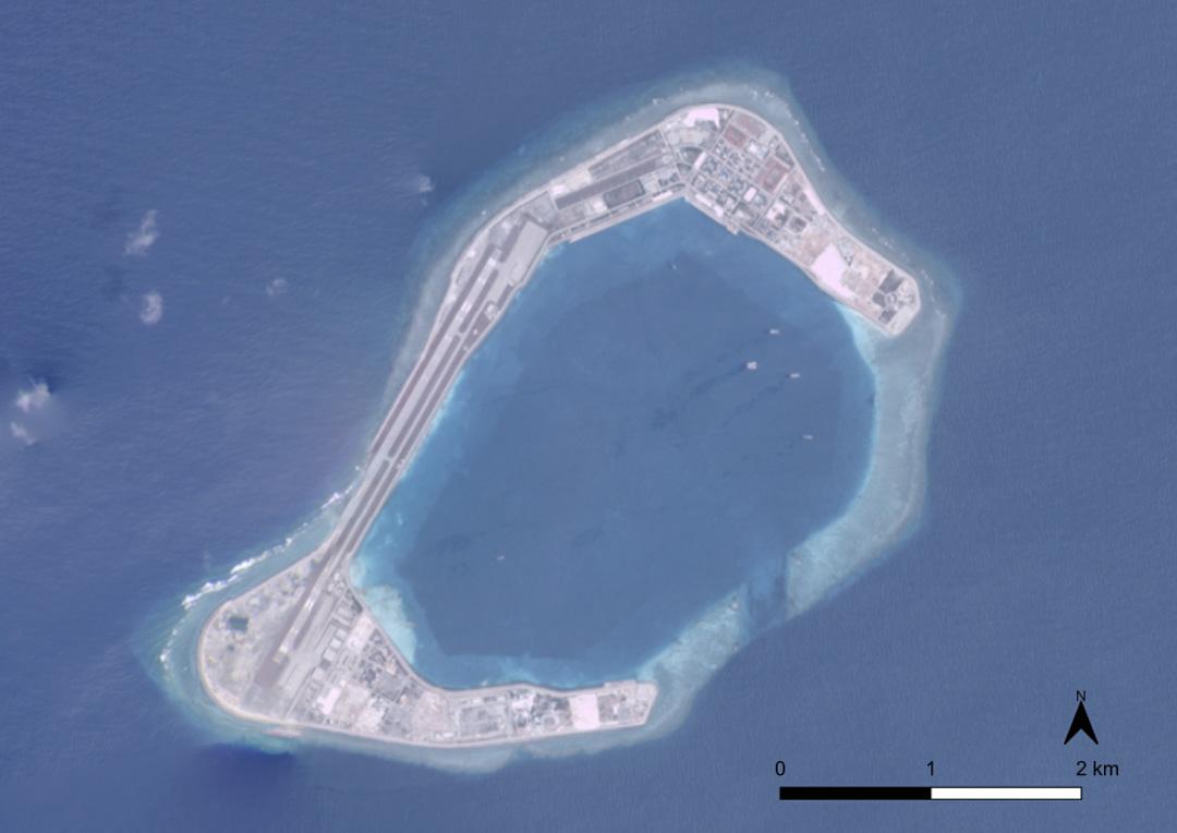 渚碧礁(Subi Reef)的人工島。